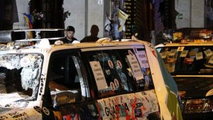 Imatge d'un dels cotxes de la Guàrdia Civil.