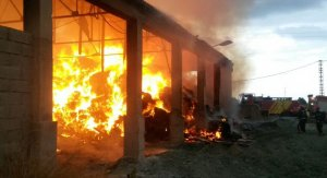 Incendi a la nau industrial de Torreblanca