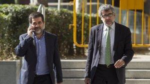 Jordi Sànchez marxa de l'Audiència Nacional després de declarar aquest dilluns, 16 d'octubre