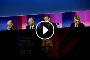 Josep Maria Bartomeu, Jordi Cardoner i Jordi Calsamiglia.