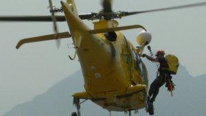 L'helicòpter emprat en el rescat