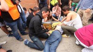L'home va patir un atac de cor durant les càrregues policials de l'1-O.