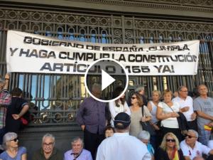 Manifestació a Barcelona per la unitat d'Espanya
