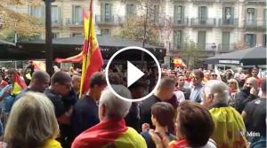 Manifestants d'ultradreta a Barcelona