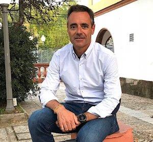 Marc Grau i Riba a l'estació de Bellaterra