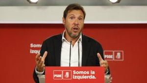 Óscar Puente durante una rueda de prensa