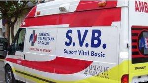 Una ambulancia en Valencia