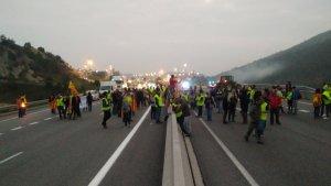 Una de les carreteres tallades avui a Catalunya.