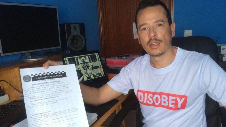 Alfredo Izquierdo, l'home multat per escriure la seva opinió a Facebook