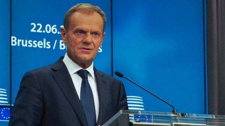 El president del Consell Europeu, Donald Tusk, va demanar a Puigdemont que respectés la Constitució.