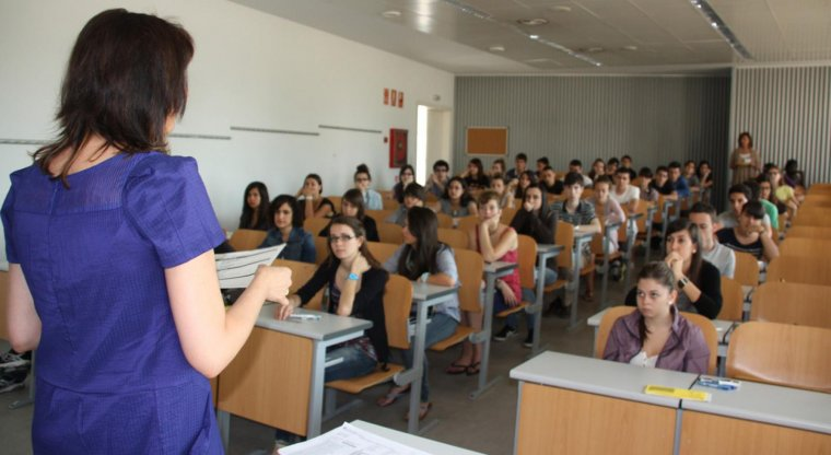 Imatge d'arxiu d'una classe a la Universitat de Lleida