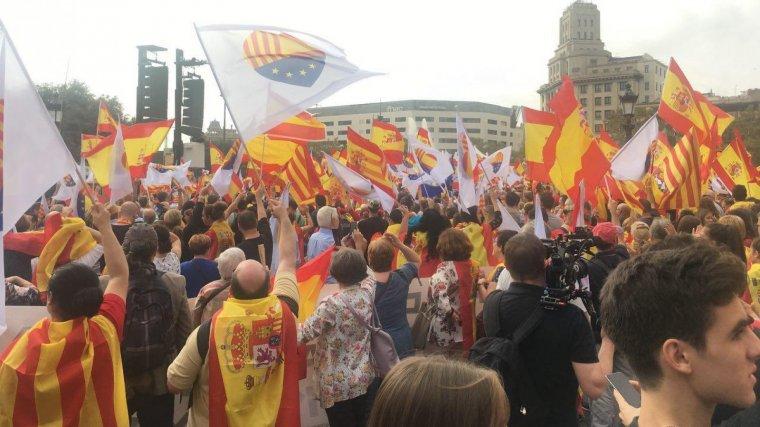 Imatge de la manifestació a favor de la unitat.