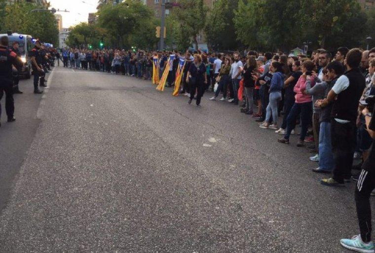 Imatge de la manifestació a Lleida