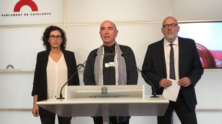 Imatge de la roda de premsa de Junts pel Sí.