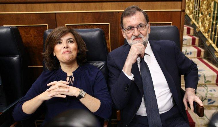 Soraya Sáenz de Santamaría i el president Mariano Rajoy