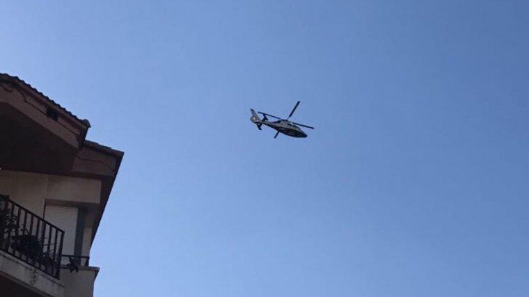 L'helicòpter s'ha deixat veure aquest divendres a la tarda per Torredembarra i Altafulla