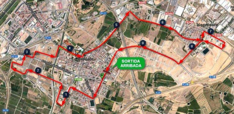 Mapa del recorregut de la cursa