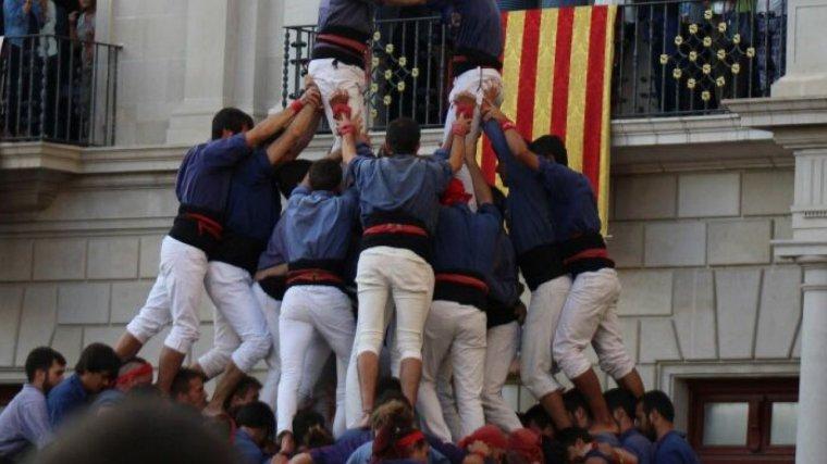 Les manilles de la torre de 9 emmanillada dels Capgossos de Mataró a Reus.