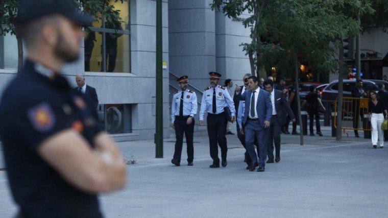 Trapero arriba uniformat a l'Audiència Nacional per declarar per un delicte de sedició
