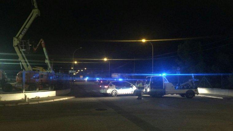 Una patrulla dels Mossos d'Esquadra al lloc dels fets