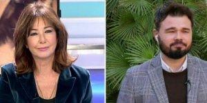 Ana Rosa y Gabriel Rufián han tenido un duro intercambio de palabras