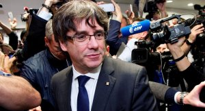 Carles Puigdemont en la roda de premsa a Brussel·les