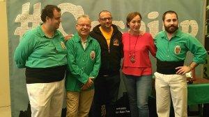 D'esquerra a dreta, Dídac Molas, Jordi Bertran, Ricard Boronat, Begoña Floria i David Lobo.