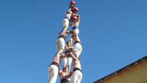 El 3 de 8 dels Xiquets de Tarragona a Altafulla.