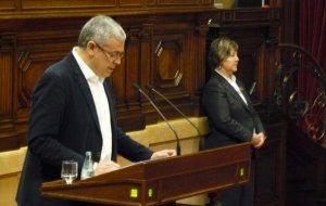 El diputat Jordi Sendra, en un ple al Parlament de Catalunya.
