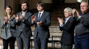 El president Puigdemont i els consellers Ponsatí, Comín, Serret i Puig