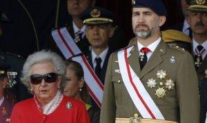 El rey Felipe VI junto a su tía, la infanta Pilar de Borbón.