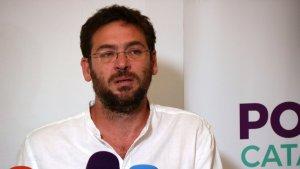 El secretari general de Podem Catalunya, Albano Dante Fachin, en roda de premsa el 31 d'octubre de 2017.