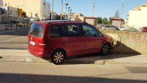 El vehicle de Solé ha topat directament amb el mur de l'aparcament