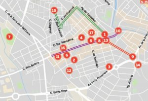 Els espais i itineraris de la Festa de Tardor