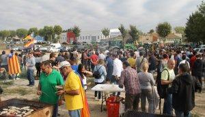 Esmorzar del passat 3 d'octubre dins dels actes de protesta per l'actuació policial de l'1-O.