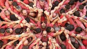 Espectaculars imatges de la diada castellera de Santa Úrsula