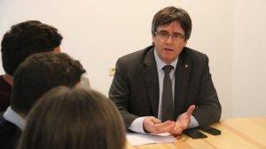 Imatge de Carles Puigdemont reunit a Brussel·les