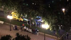 Imatge de l'atropellament aquesta nit a Tarragona