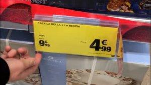 Imatge de l'etiqueta del producte abans que es descobreixi el frau