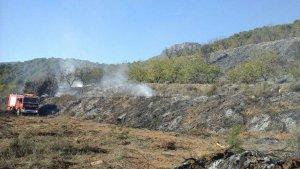 Imatge de l'incendi d'Alforja aquesta tarda.