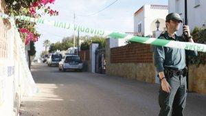Imatge del lloc de l'assassinat d'este matí a Vinaròs
