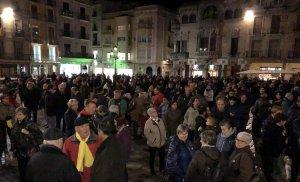 Imatge dels instants previs a l'inici de la manifestació