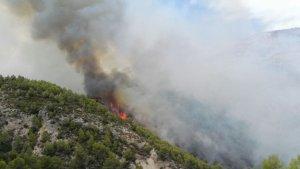 Incendi a Castell de Guadalest