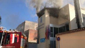 Incendi a la Diputació d'Alacant