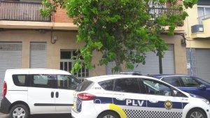 La Policia Local en el lloc de l'incident