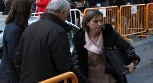 La presidenta del Parlament, Carme Forcadell, ha arribat al Tribunal Suprem