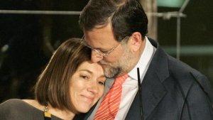 Mariano Rajoy junto a su mujer Elvira Fernández