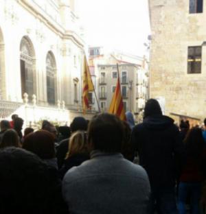 Piquets al carrer Major de Lleida