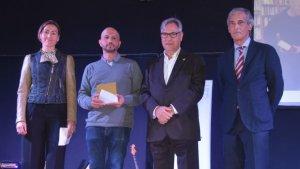 Poblet i Carrión reben el premi a mans de Eduard Rovira i Josep Bertrand