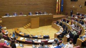 Sessió parlamentària a les Corts Valencianes